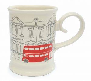 Majestic Cream - London Bus Mug HR