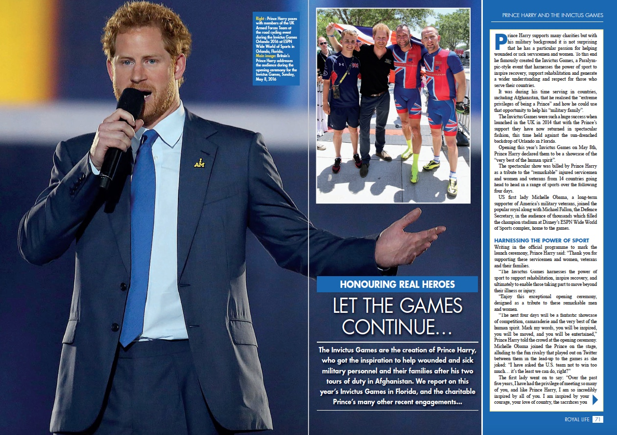 Honouring Real Heroes: Prince Harry's Invictus Games Orlando 2016