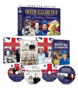 DEM0976.UK.DR_Queen Elizabeth II 90th Birthday Celebration_4DVD GIFT SET_3D_product show