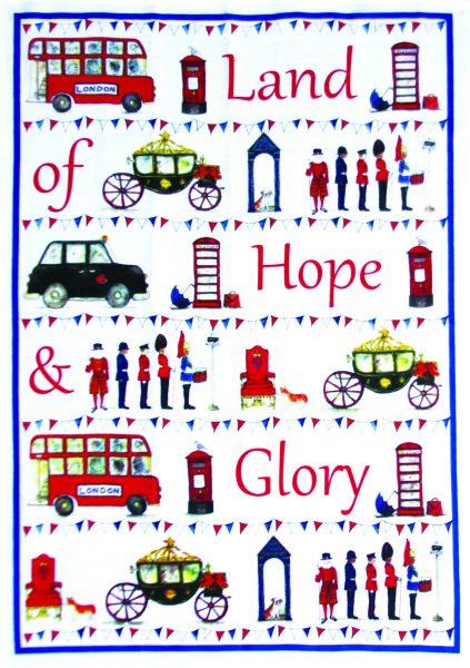 Milly Green Celebrating Britain Tea Towel