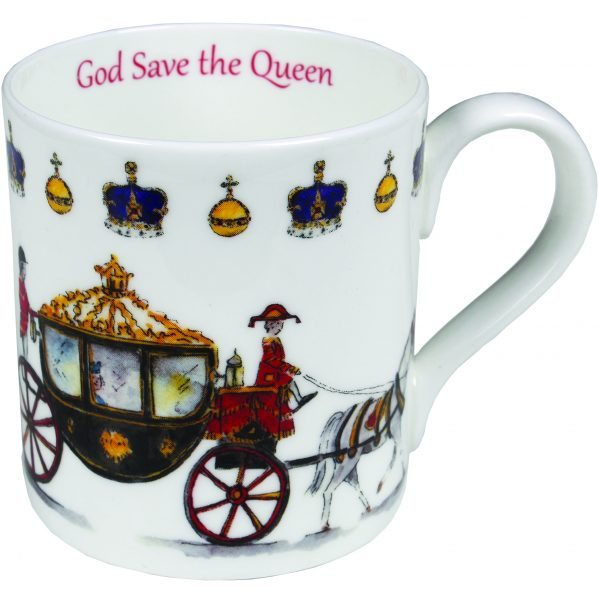 Milly Green God Save the Queen China Mug