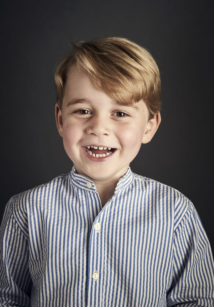 The Duke and Duchess of Cambridge are delighted to share a new official portrait of Prince George to mark His Royal Highness's fourth birthday.