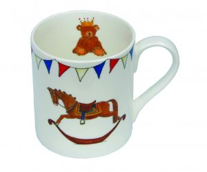 Milly Green Royal Baby Rocking Horse Fine Bone China Mug
