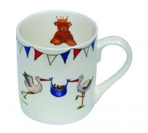 Milly Green Royal Baby Stork Fine Bone China Mug