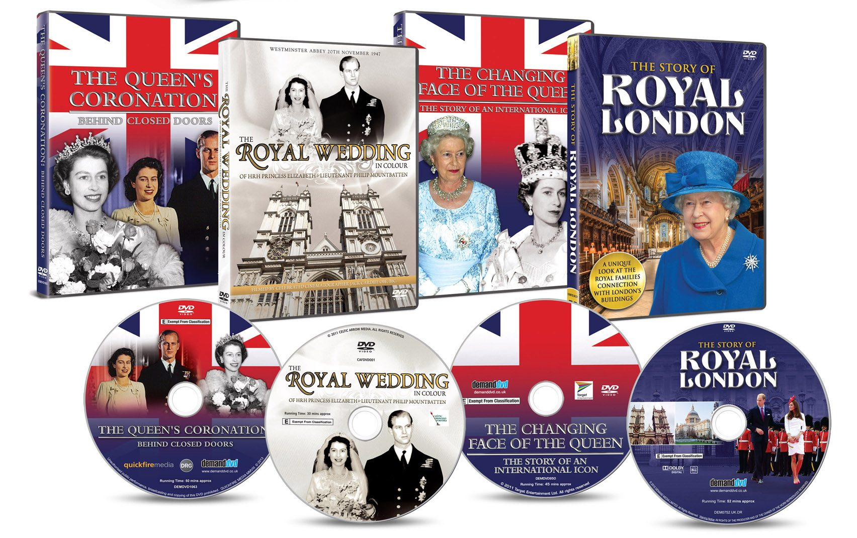 Queen Elizabeth II on Film: Four DVD Box Set