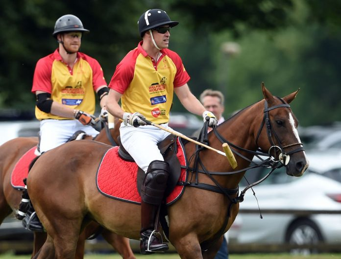 The Duke of Cambridge and Prince Harry take part in the Jerudong Trophy at Cirencester Park Polo Club, Gloucestershire this past Saturday