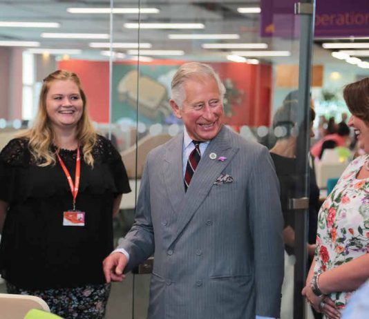 HRH Prince of Wales officially opens the Moneypenny centre at Wrexham.