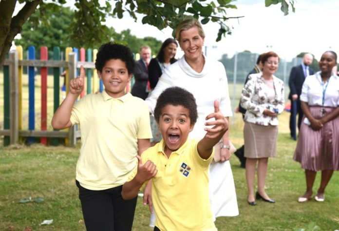 Students at Baston House School were thrilled to welcome HRH The Countess of Wessex