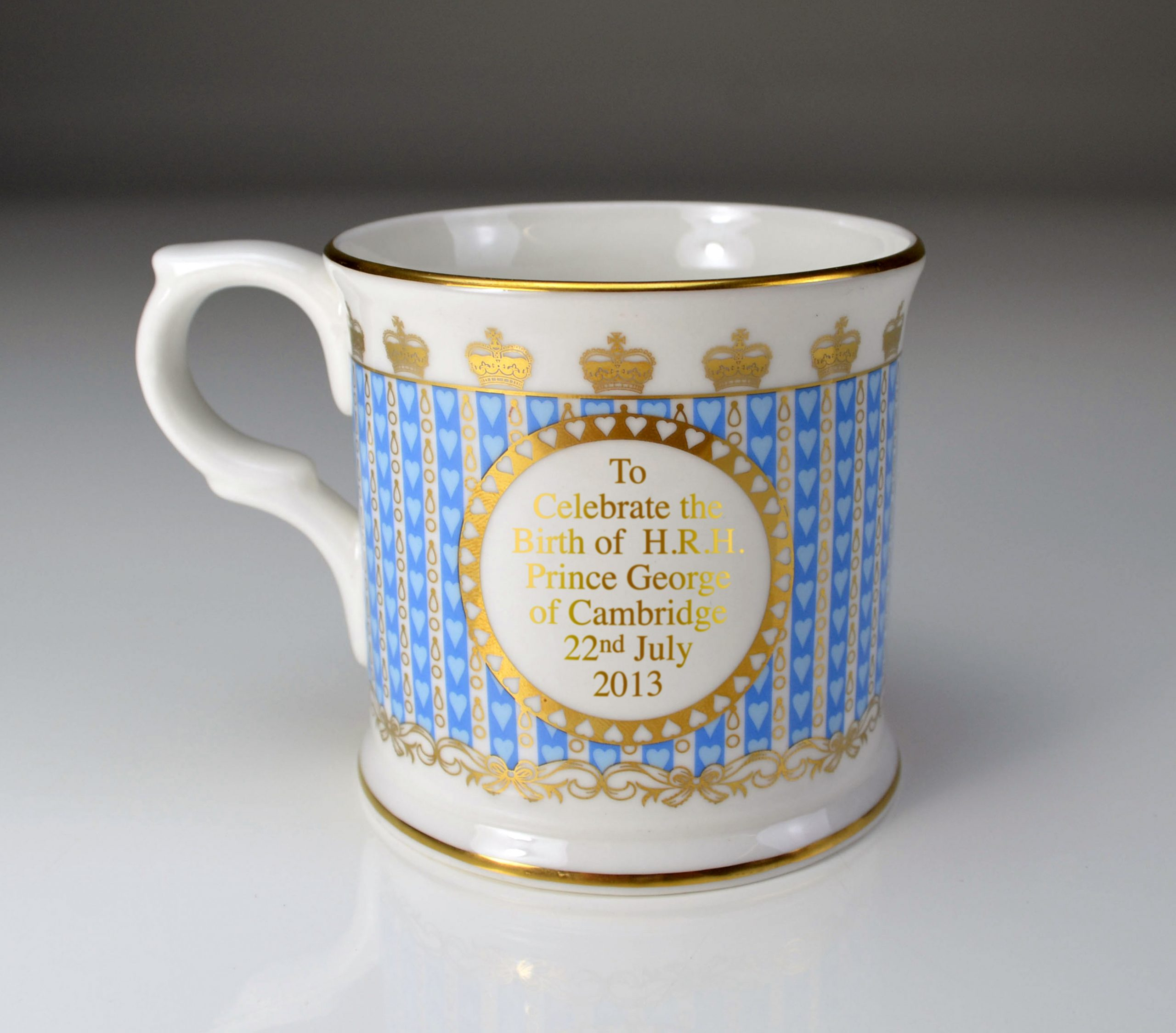 William Edwards HRH Prince George of Cambridge Mug - Back