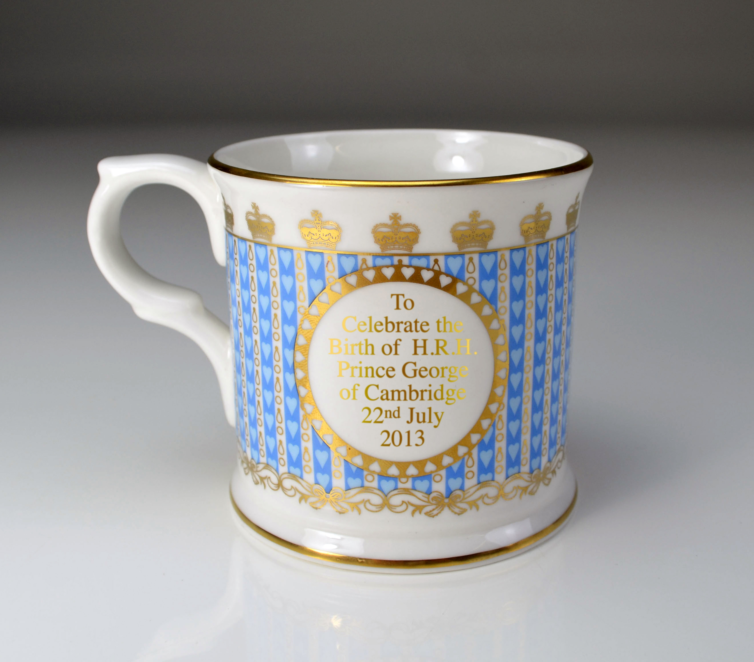 William Edwards HRH Prince George of Cambridge Mug - Back