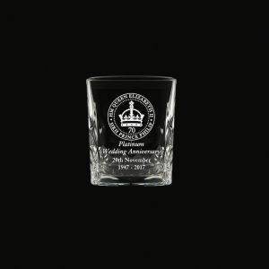 Royal Scot 'Kintyre' Tot Glass Platinum Anniversary