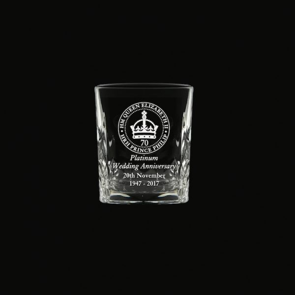 Royal Scot 'Kintyre' Tot Glass Platinum Anniversary