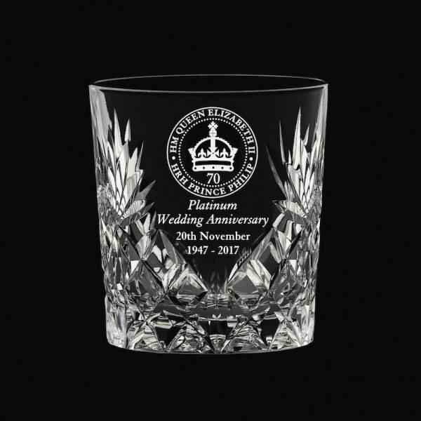 Royal Scot 'Kintyre' Whisky Tumbler Platinum Anniversary