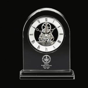 Royal Scot Large Mantle Clock Platinum Anniversary