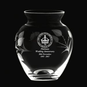Royal Scot Posy Vase Platinum Anniversary