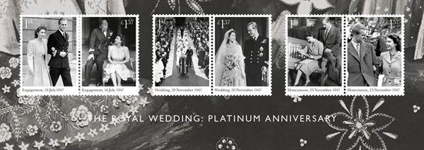 Royal Mail Release Stamps to Commemorate 70th Wedding Anniversary