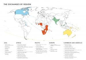 Map of Commonwealth Fashion Exchanges (by region)