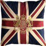 Royal Crest-Vintage Large Square Cushion