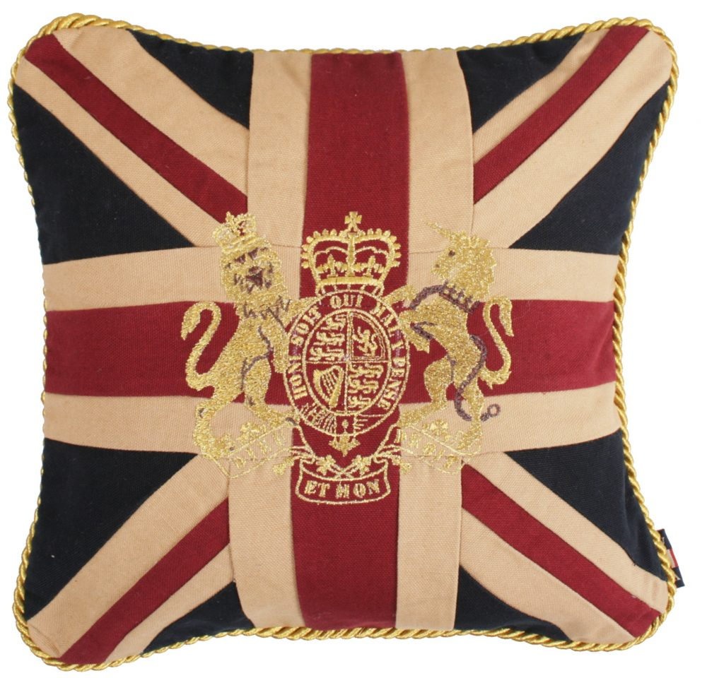 Royal Crest-Vintage Small Square Cushion