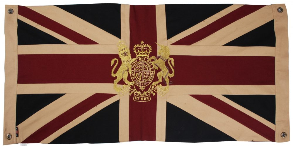 Royal Crest-Vintage Small Flag