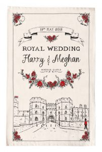 Royal Wedding Tea Towel - Celebrating the Wedding of Prince Harry and Meghan Markle