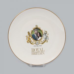 Exclusive Royal Britain Royal Wedding Coupe Plate