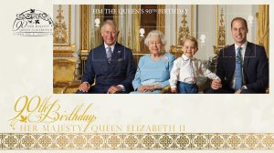 HM The Queens 90th Birthday Miniature Sheet Cover