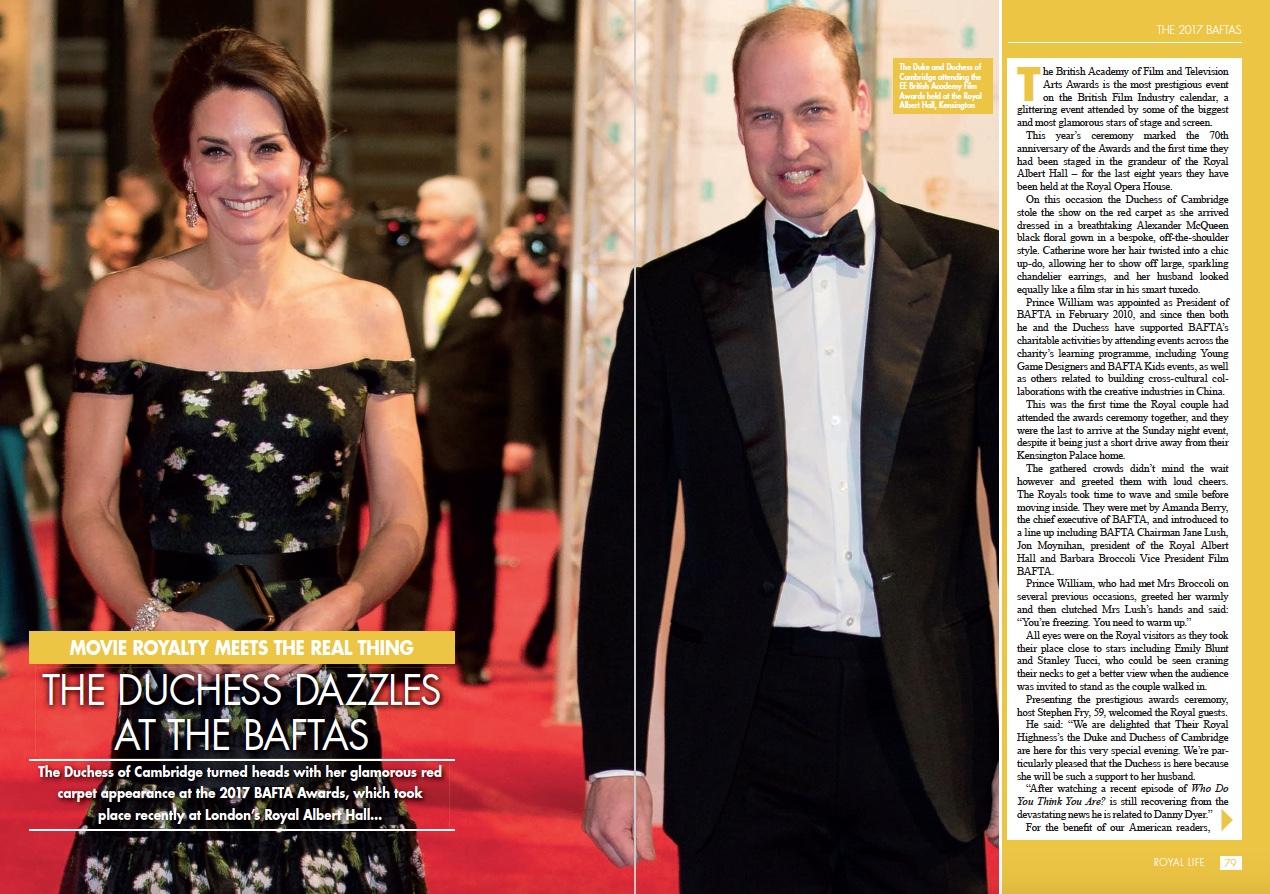 The Royals at the BAFTAS