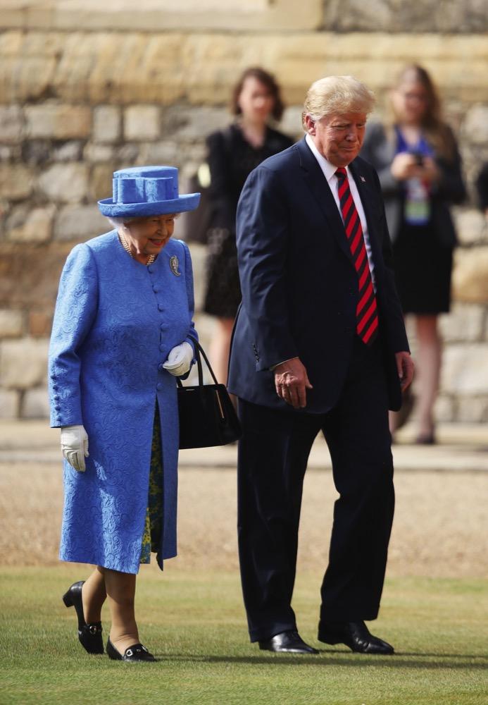 Queen Elizabeth II and US President Donald Trump