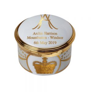 Royal Baby Archie Collection by William Edwards Home Hinged Pill Box