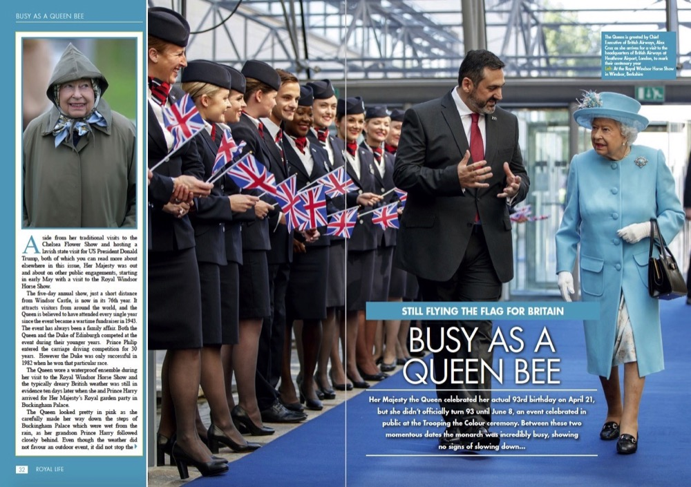 Busy as a Queen Bee - Queen Elizabeth II Still Flying the Flag for Britain