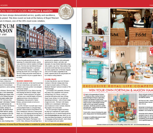 Royal Warrant Holders - Fortnum & Mason