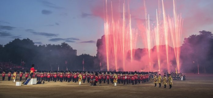 The Household Division Beating Retreat
