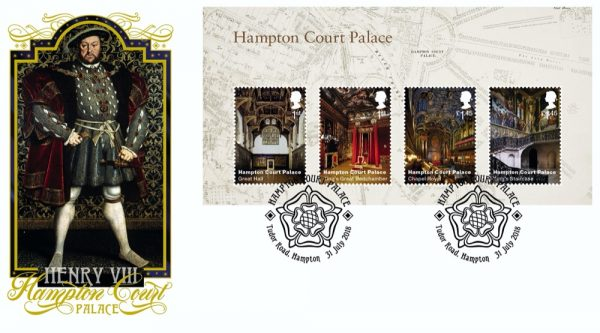 Henry VIII / Hampton Court Palace Miniature Sheet Cover