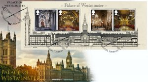 Palace of Westminster Miniature Sheet Cover - Palace of Westminster