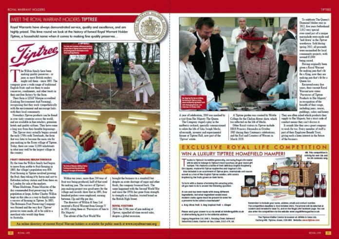 Meet Royal Warrant Holders - Tiptree - Royal Life Magazine - Issue 52