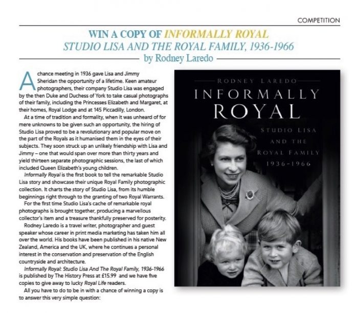 Competition:Informally Royal - Royal Life Magazine: Issue 53